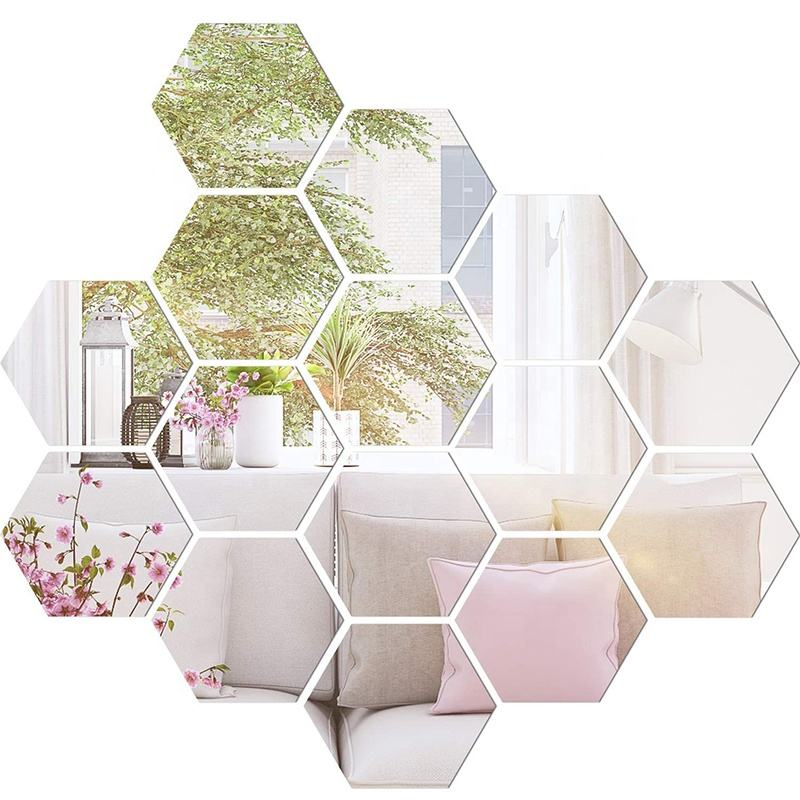 Customize Colors Decorative Living Room Flexible Non Glass Mirror Plastic Self Adhesive Wall Stickers Mirrored Acrylic Sheets