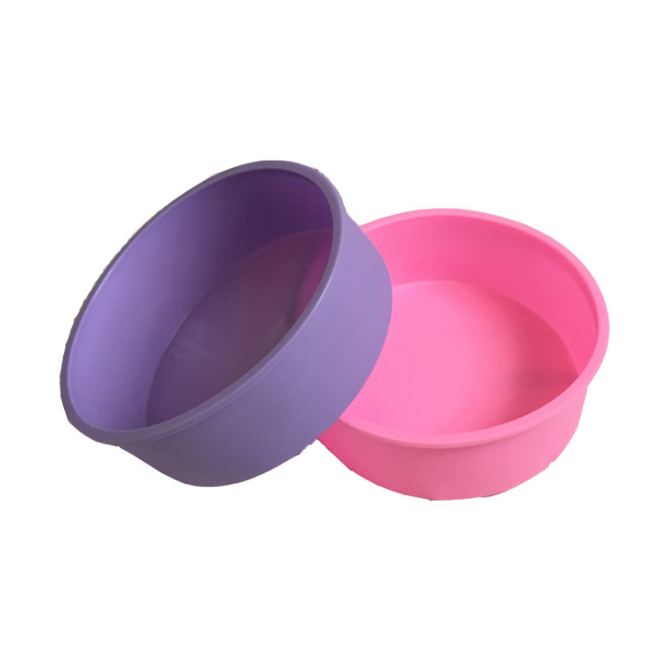 Hot Selling 4/6/8 Inch Round Silicone Cake Chocolate Baking Mold silicone Cake Pan Baking Mold