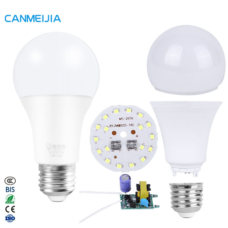 3W 5W 7W 9W 12W 15W 18W E27 B22 SKD Led Bulb Assembly Caladium Manufacturers Light Led Bulb Spare Parts,Led Bulb Raw Material