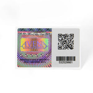 Custom High Quality 3D Serial Number QR Hologram Sticker