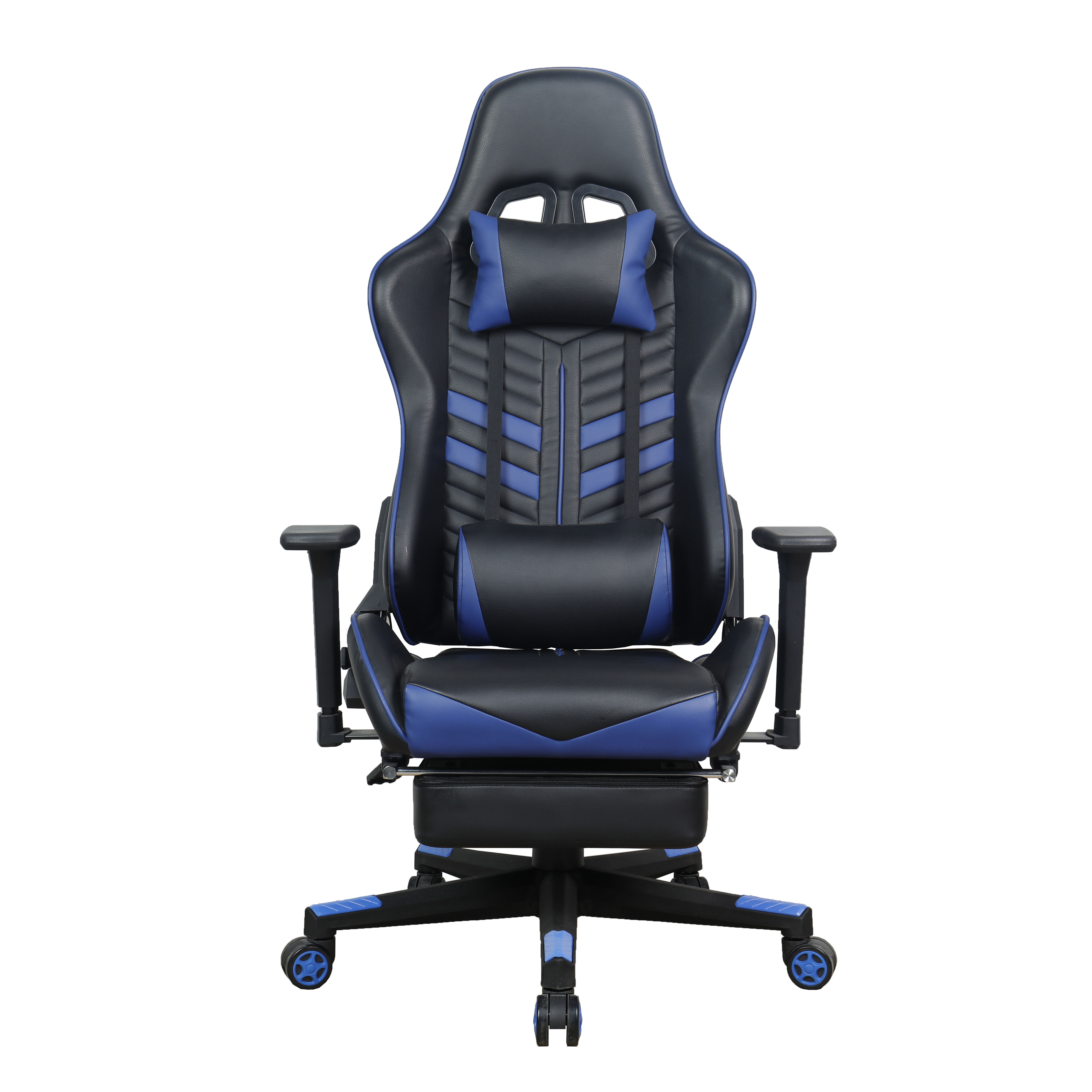 Cheap Wholesale Black PU Leather Gaming Rocking Chair Supplier With Fixed Armrest