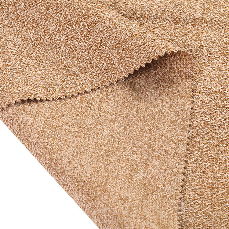 Shrink-resistant linen <span class=keywords><strong>type</strong></span> cloth 100 polyester jute curtain jacquard fabric