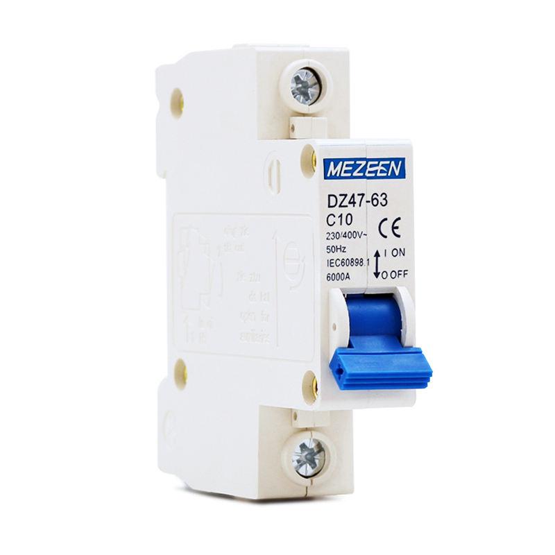 Miniature Circuit Breaker 3 Poles 25A 400V Miniature Residual Current Circuit Breaker Leakage Protection DZ47-63 C25