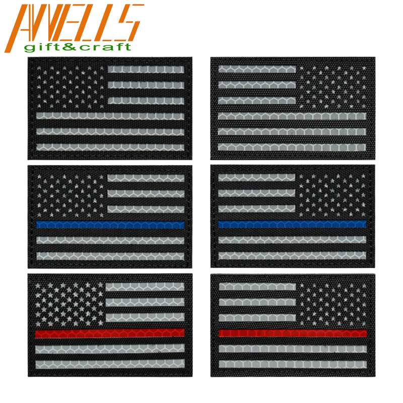 Infrared Patch With Hook Fastener Backing American Flag Reverse Laser Cut IR Patch US Navy