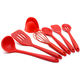 Amazon Hot Selling High Quality Kitchenware 7pcs Silicone Cooking Kitchen Utensil Set Include Eggbeater Strainer Soup Ladle