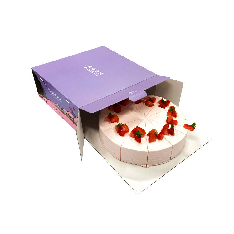Full Color Custom Printed Ivory board Mailing Box Pizza Dessert Bread Sandwich Cupcake Packing Paper Cake Boxes