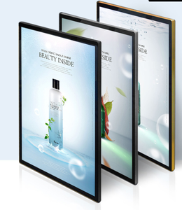 Magnetic acrylic panel A1A2 A3 customized size elevator subway shop restaurant picture poster frames for advertising