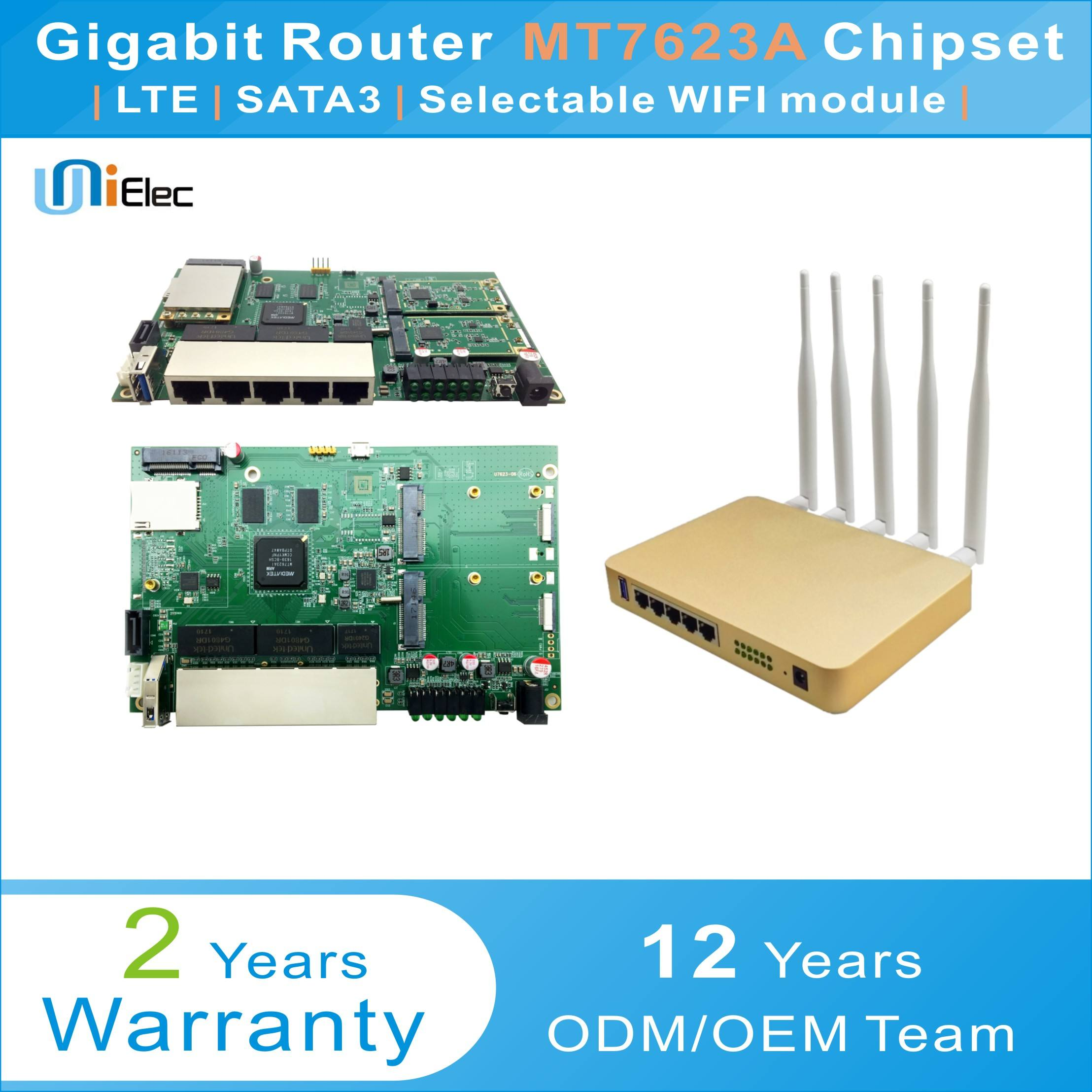 MTK MT7623 Enterprise Router LTE 4G WIFI OpenWrt Wireless MT7603 MT7612 MT7615 MT7623A Chipset PCBA ODM OEM Sim Card <span class=keywords><strong>bordo</strong></span>