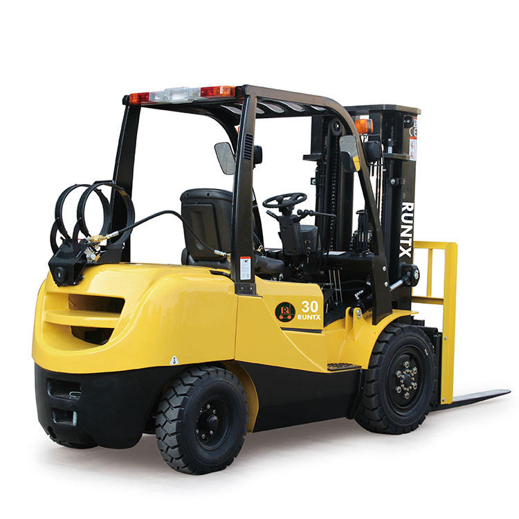 3 ton fuel LPG forklift with wide-view 3 meter duplex mast and Nissan K25 Gasoline engine