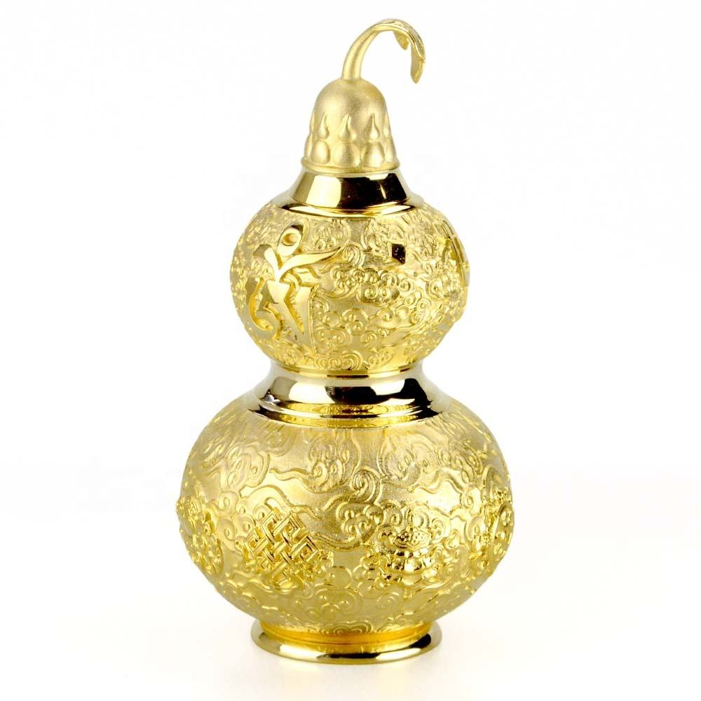 Zhongshan Wholesale Custom Copper & Brass Religious Crafts Feng Shui Gold Gourd Buddhist Gifts Crafts