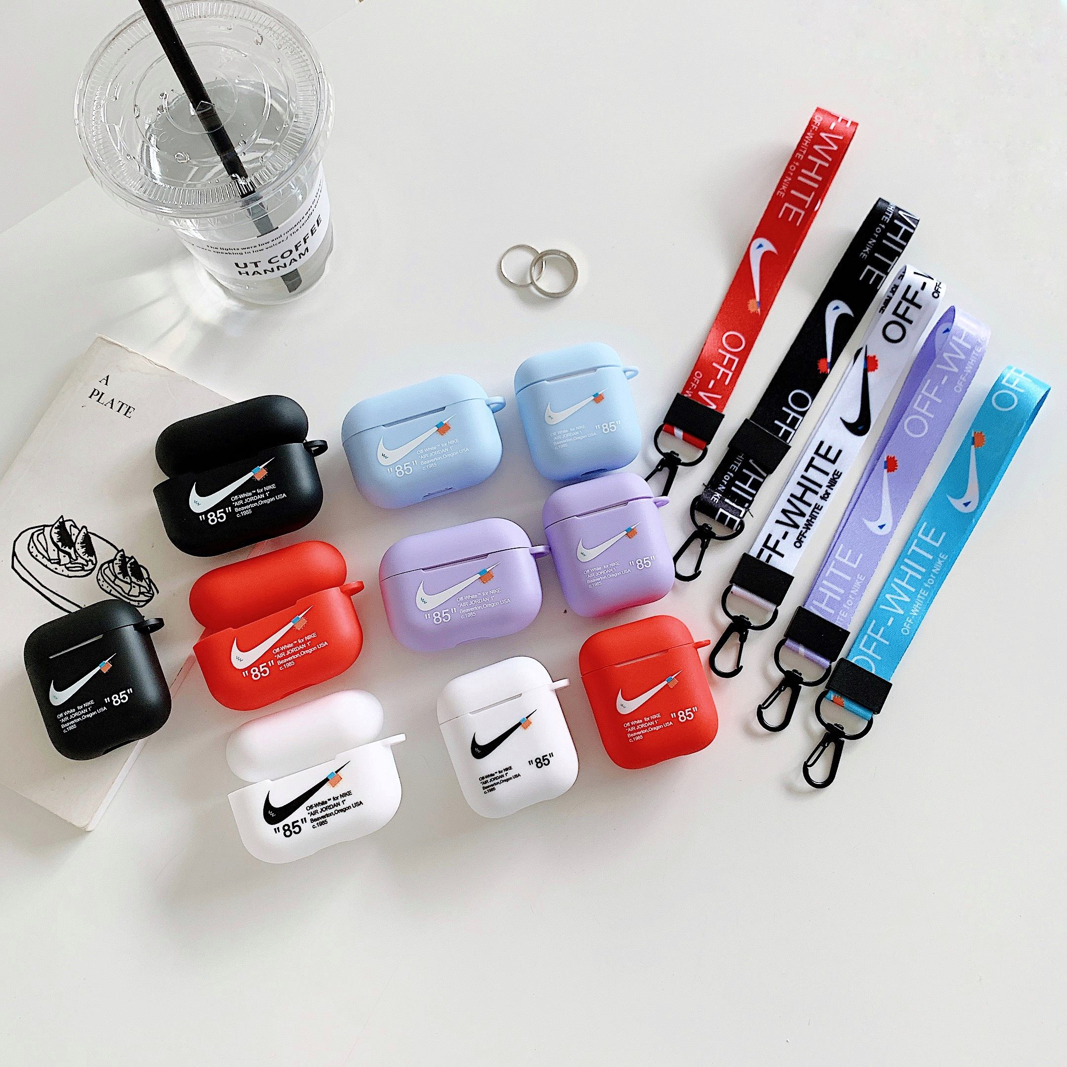 Airpod cases Luxury black white Earphones clear Cover nike transparent jordan tpu soft for apple Airpods Case