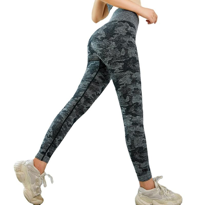 Free Sample Women's Jacquard Weave Yoga Sports Pants Butt Lift Gym Athletic Seamless Leggings