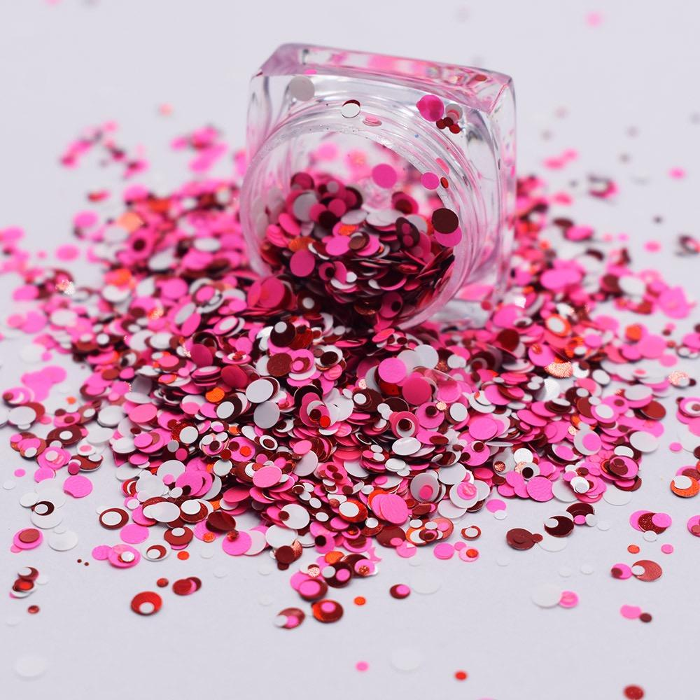 2021 Romantic themed valentine day eye chunky dot glitter heart star chunky mix valentines glitter