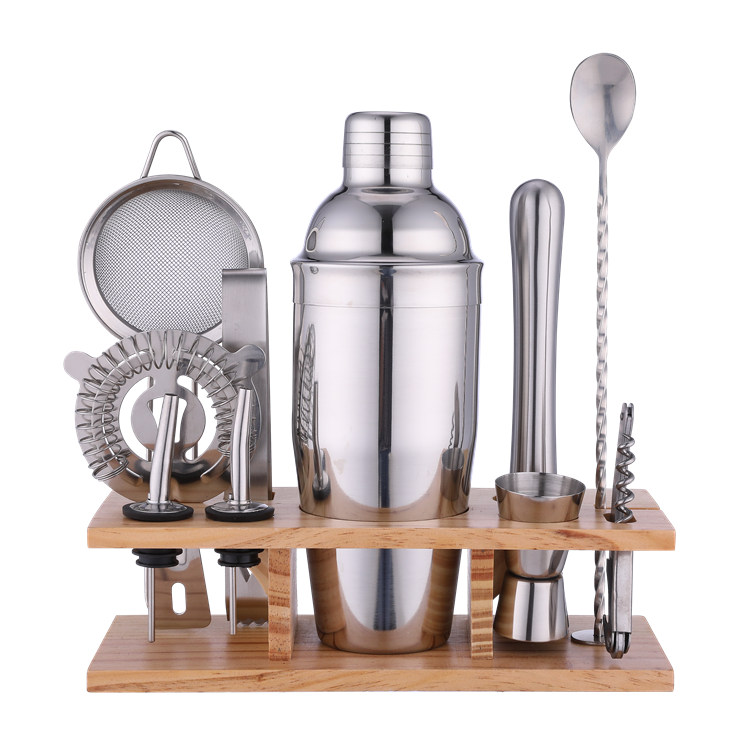 Amazon hot 11-piece Stainless Steel Cocktail Shaker Bartender set