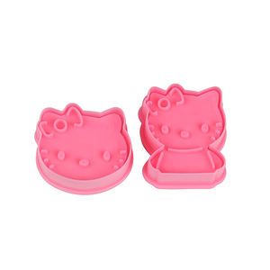 2pcs plastic mini Hello kitty cookies cutter cake baking tools