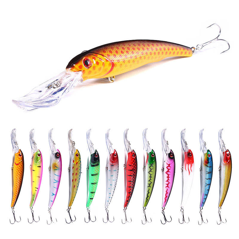 Deep diving fishing lure artificial minnow lure 16.5cm 27.9g big ABS hard plastic bait fishing tackle