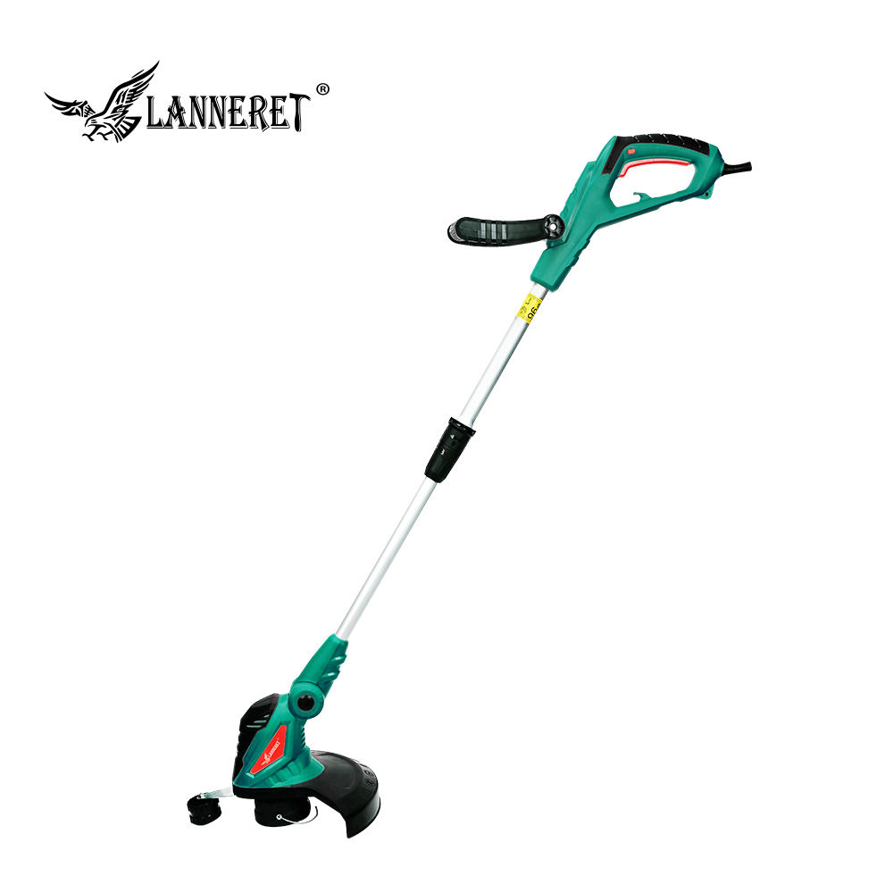 550W Ac Elektrische Grastrimmer Hand Cleaner Gras Cutter Machine Lijn Trimmer Ajustable As Rotatie Buis Tuin Tool