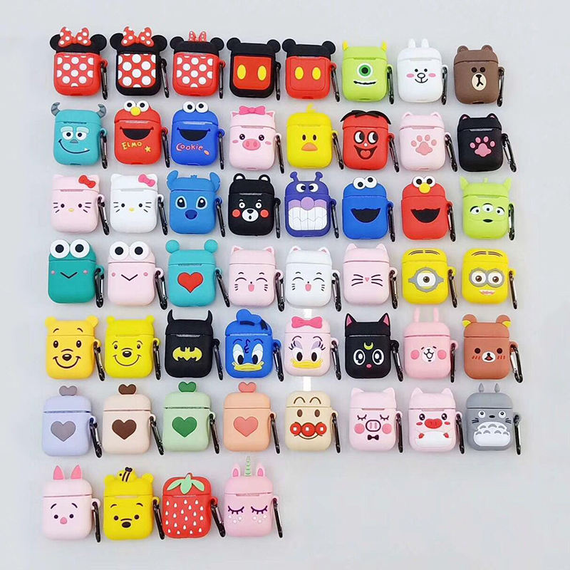 Free Sample Hot Sale New For Airpods Case Silicone Cartoon Cute For Airpods Case Cute