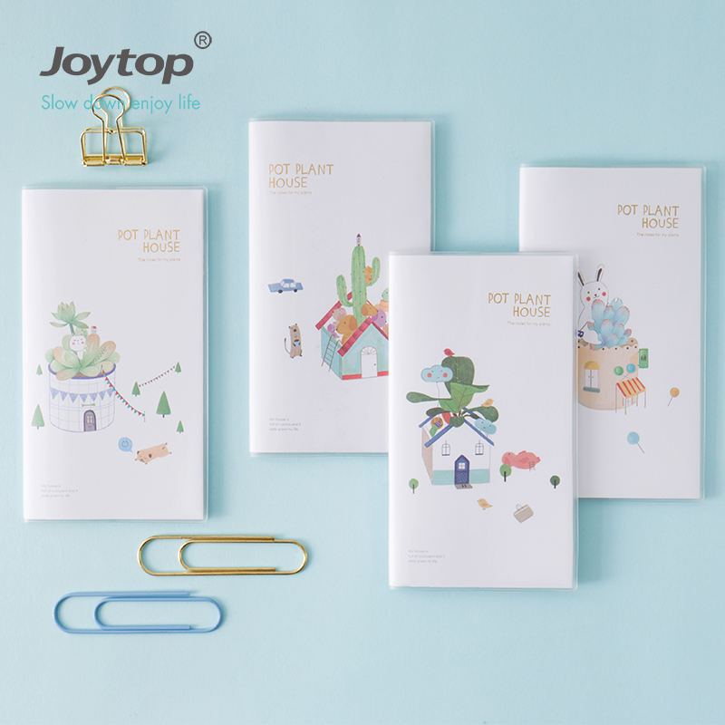 Joytop Pot plant house Expense notebook H5 cash record book softcover notebook 6032