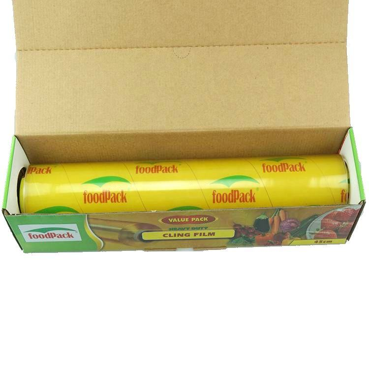 good stretch pvc cling film food grade pvc cling wrap food packaging plastic film