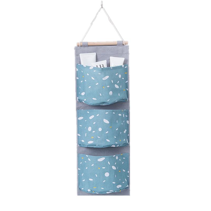 Creative Waterproof Cotton Linen Wall Hanging Storage Bag Pouch Organizers QJ