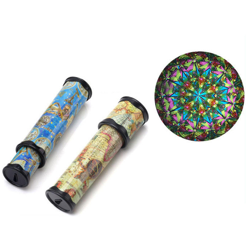 1-1 Rotating kaleidoscope adult nostalgic primary school students science experiment creative nostalgic telescope