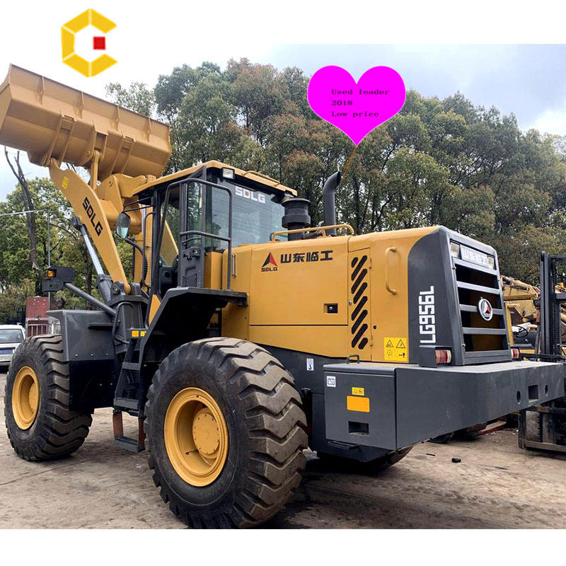 Chinese hot sale used wheel loader 956l 5ton SXLG loader, low working hours SXLG construction equipment wheel loader