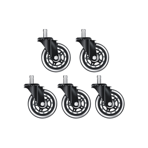 China wheel 3 inch polyurethane wheels transparent caster rubber furniture caster office chair clear caster wheel