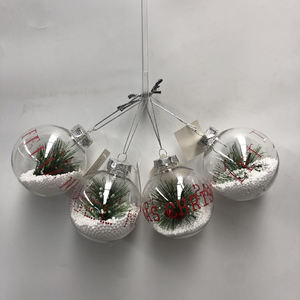DIY Paintable Clear Plastic Christmas Ball Ornaments