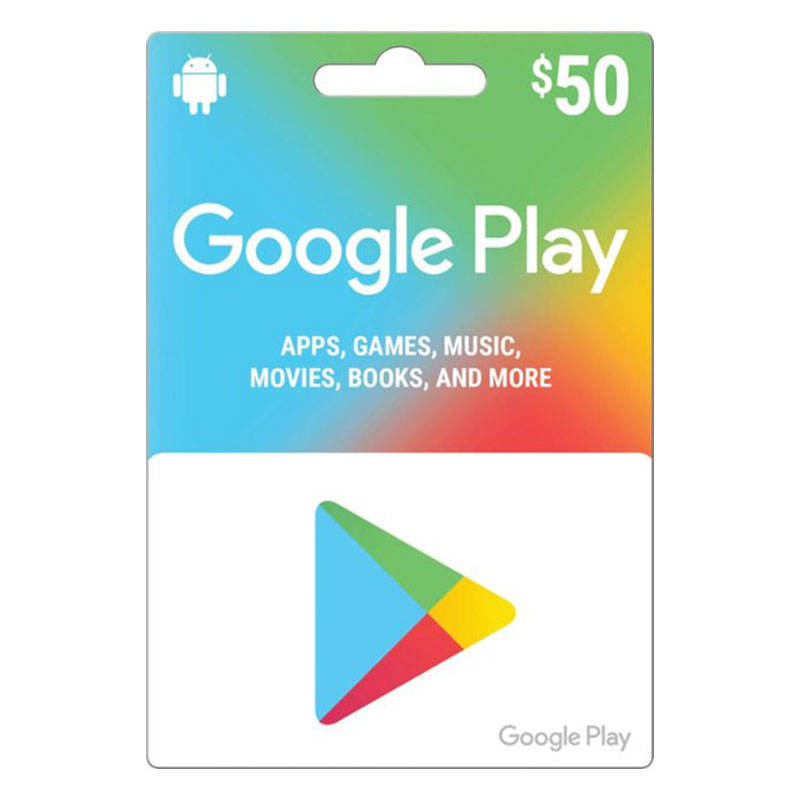 50USD Just account google play gift card