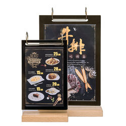 6-transparent-pocket tabletop menu holder for holding display printed papers