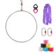 Professional Aerial Lyra Hoop Kit 600 KGS Stainless Steel 2.5cm 85cm Yoga Ring Indoor Sports for Circus, Acobatics