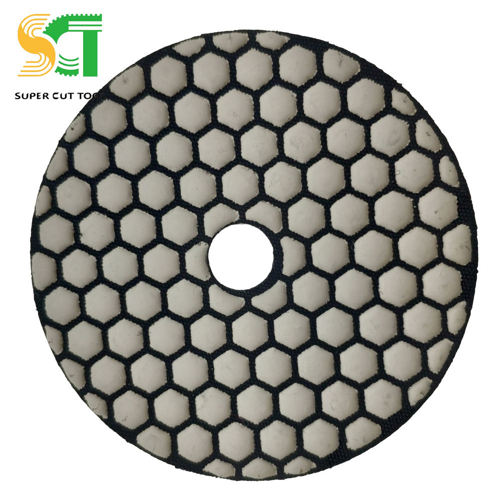 #100 Vacuum Brazed Polishing Pad By Hand For Stone Tile