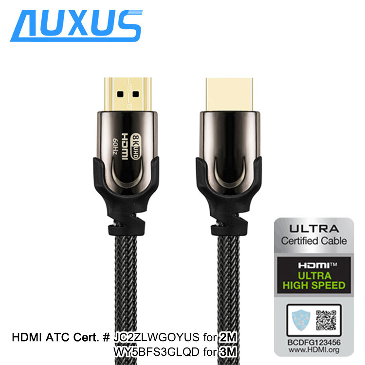 Certified Ultra high speed HDMI cable YUV444 3D 8K@60Hz 4K@120Hz 48Gbps 4320P Gold HDMI cable with ethernet