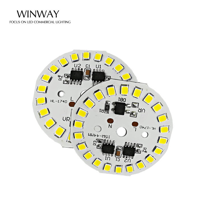 China Factory LED Module 15w 220V retrofit driverless 90Lm/W SMD 2835 round led module PCB for bulb light