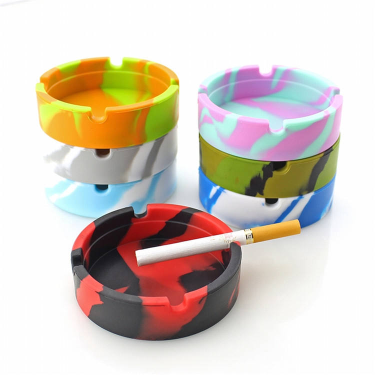 Custom logo portable heat resistance silicone cigar ash tray ashtray cigarettes