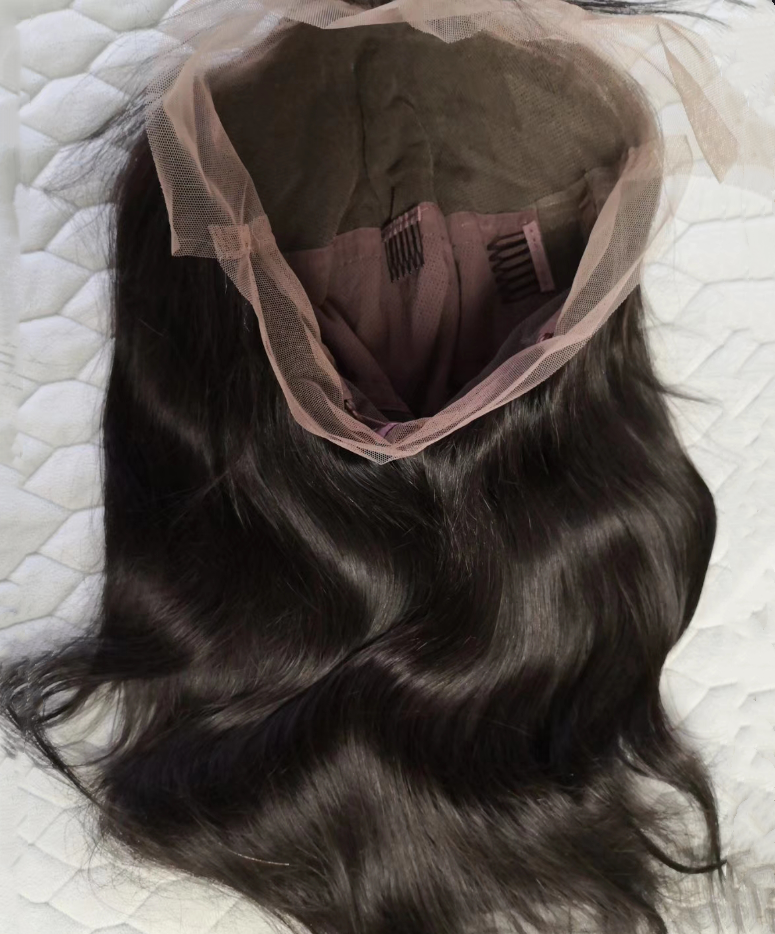 Online buying straight long human hair front lace and full lace wig with baby hair natural hairline ,pre plucked Bleached Knots