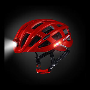 Factory supply on Amazon high-end smart LED road bike helmet with USB charger port