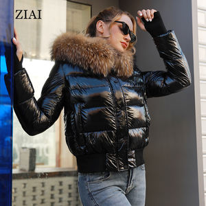High quality wholesale puffer coats with big fur hood ladies waterproof padded jackets winter jacket
