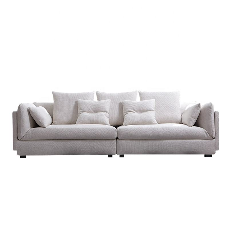 2020 New Design Modern Living Room Fabric Sofa 2 Parts Connection 4 Seat Sofa