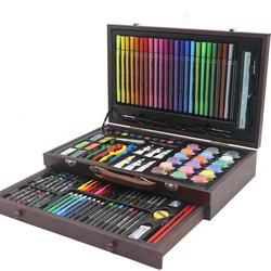 wooden case box acrylic paint draw stationery color pencil f