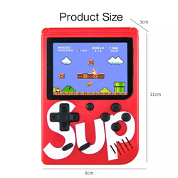 Portable Mini Handheld SUP Game Console 8-Bit 3.0 Inch Color LCD Kids Color Game Built-in 400 Games Player