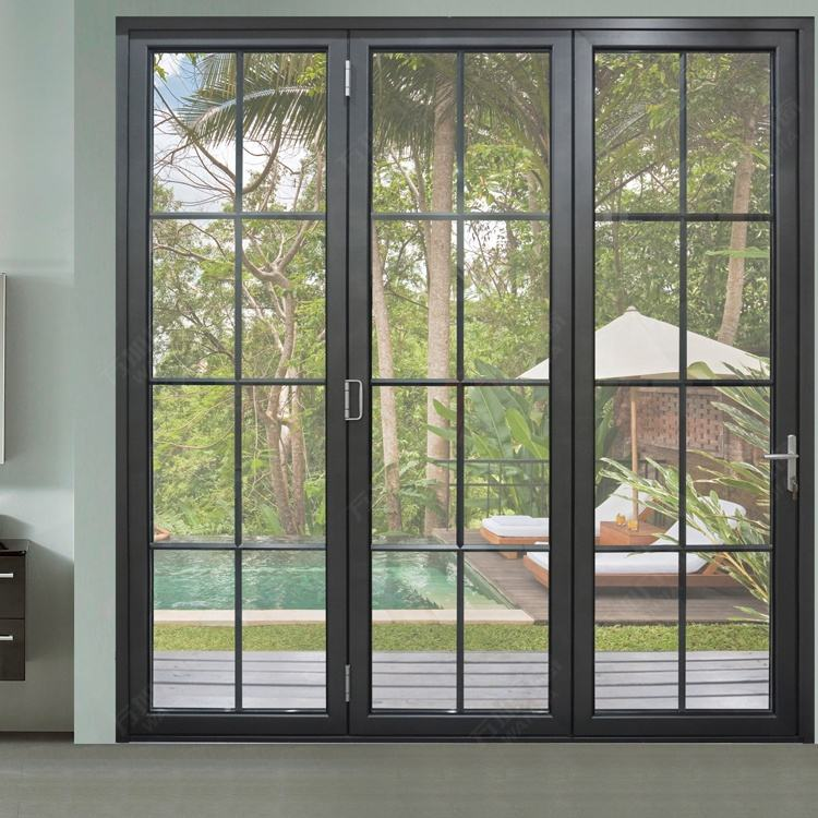 aluminum interior glass sliding bifold door