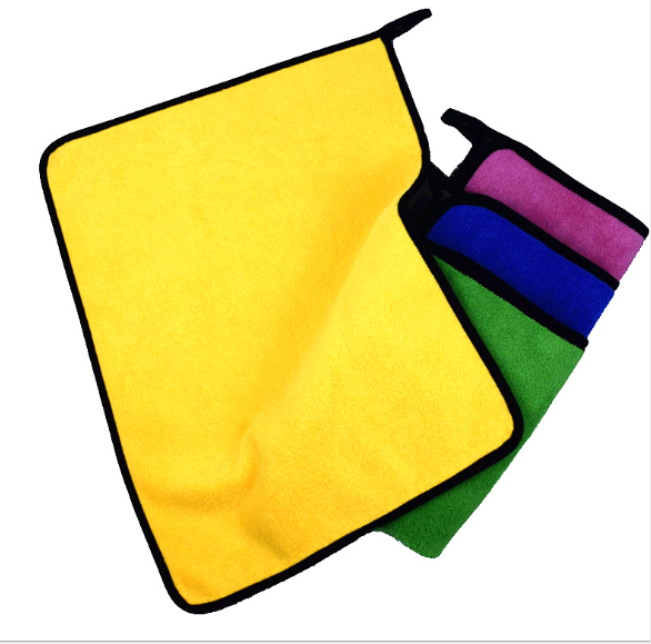 Custom thick double side Microfiber Absorbent Drying Bath Towels for home fiber towel