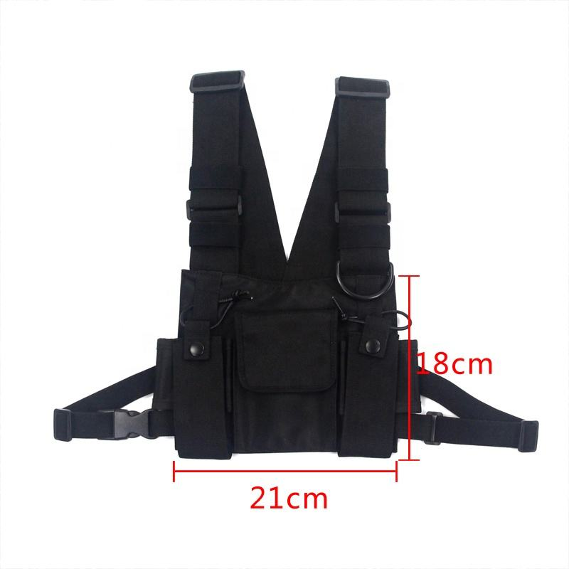 Outdoor Sports Men Chest Vest Bag Universal Tactical Custom Stylish Fashion Messenger Chest Harness Bag