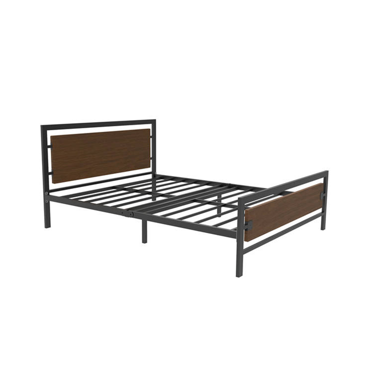 high quality modern customizable queen size hotel metal frame base bed