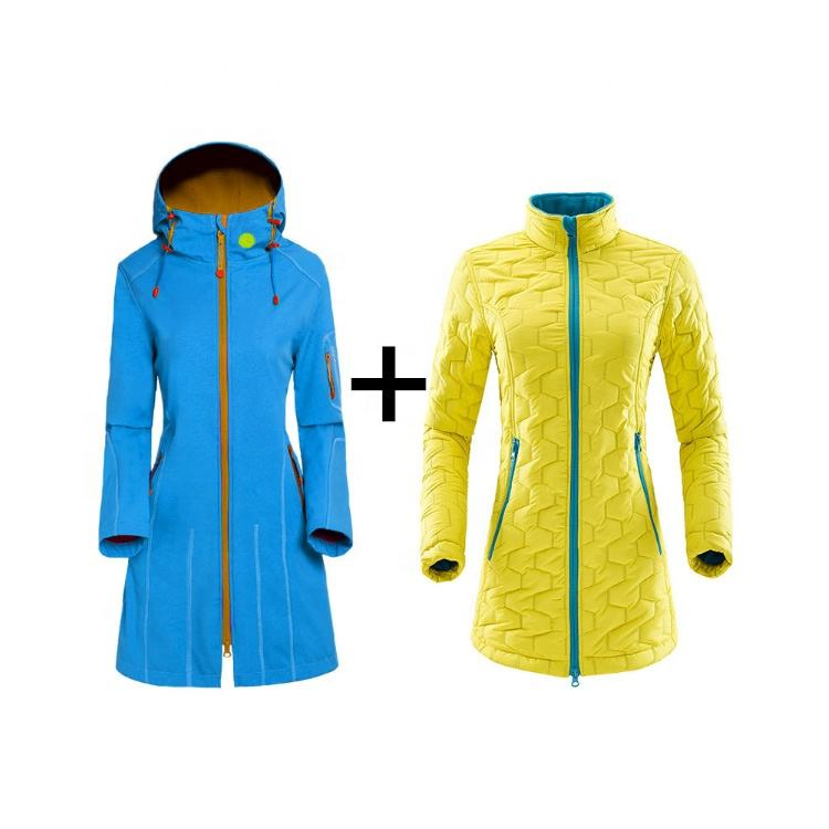 High Quality Long Sleeve Outdoor Women Waterproof Softshell ski Jacket