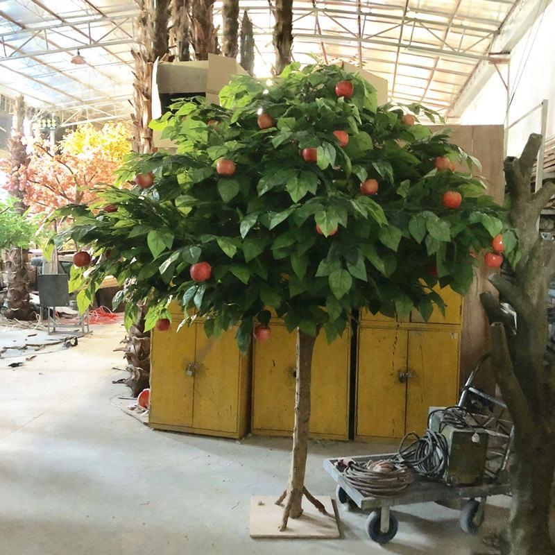 Decorativo per la casa grande artificiale apple blossom tree legno greenfake <span class=keywords><strong>agrumi</strong></span> arancia limone albero di piante