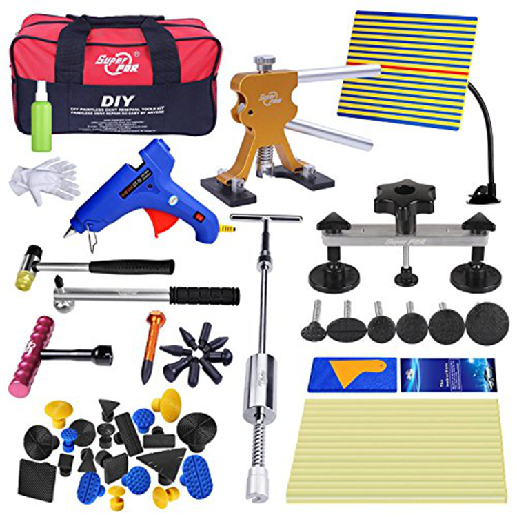 Super Pdr DIY Paint less Dent Removal Tool Kits Car Body Hail Dent Repair Tool Dent Puller