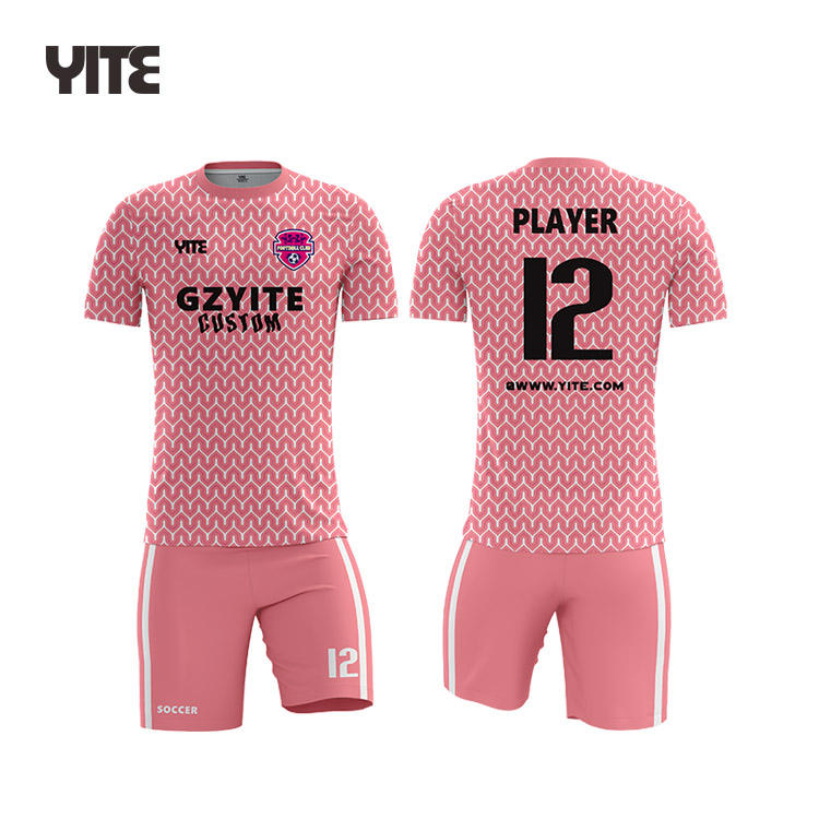 Cheap Pink football shirt printing authentic international soccer jerseys custom football shirt maker soccer jersey